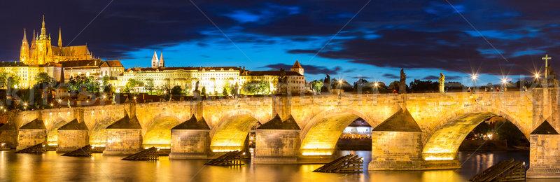 Pargue sunset Czech Republic. Stock photo © vichie81
