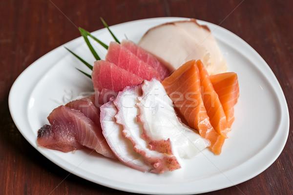 Sashimi ayarlamak Japon gıda deniz turuncu Stok fotoğraf © vichie81
