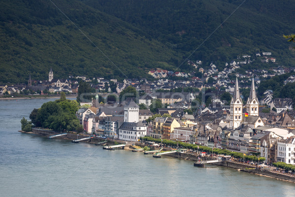 Boppard and river Rhine Stock photo © vichie81