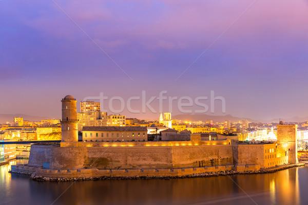 Marseille Franciaország szent kastély katedrális LA Stock fotó © vichie81