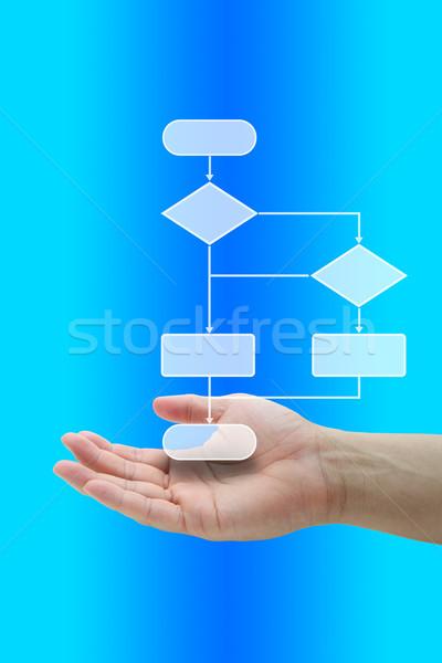Döntés diagram fa kéz üzlet vizsgál Stock fotó © vichie81