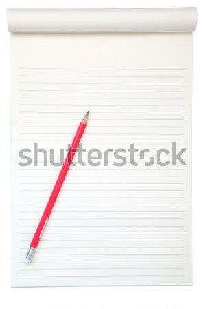 Zdjęcia stock: żółty · papieru · czytania · farbują · odizolowany · biały