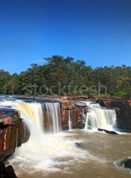 氣候 瀑布 森林 泰國 頂部 透視 商業照片 © vichie81