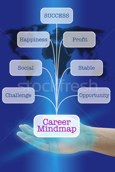Career Maind Map Stock photo © vichie81