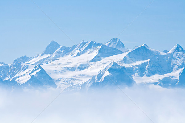 Snow Mountain Pilatus Lucern Stock photo © vichie81