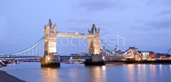 Tower Bridge panorama crepúsculo Londres inglaterra ponte Foto stock © vichie81