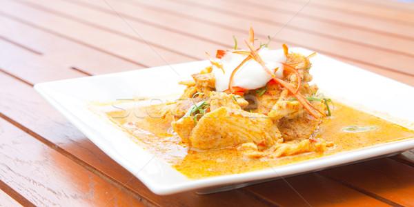 Pollo rojo curry tailandés comida Foto stock © vichie81