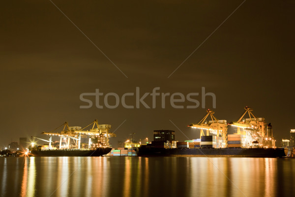 Fracht Schiff groß Container arbeiten Kran Stock foto © vichie81