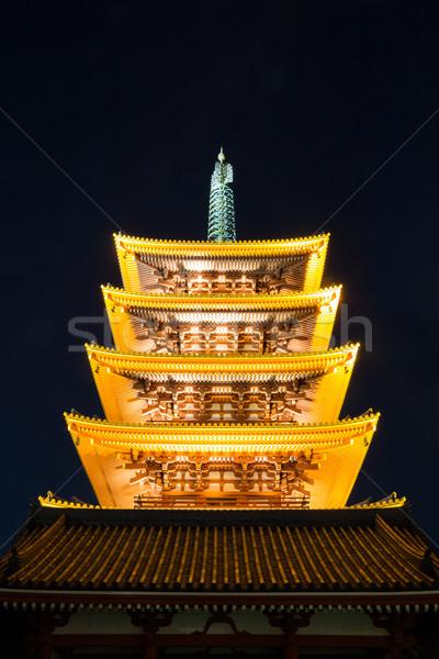 Templo Tóquio Japão pagode céu cidade Foto stock © vichie81