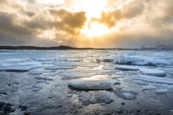 Gleccser Izland víz természet hó szépség Stock fotó © vichie81