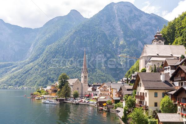Stockfoto: Dorp · Oostenrijk · klassiek · stad · natuur