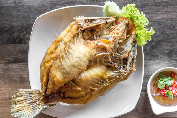 deep fried sea bass fish Stock photo © vichie81