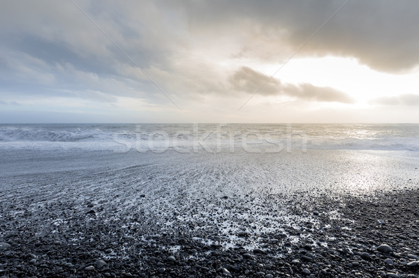 black beach Iceland Stock photo © vichie81