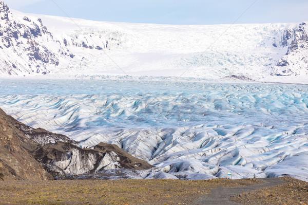 Geleira parque céu paisagem verão gelo Foto stock © vichie81
