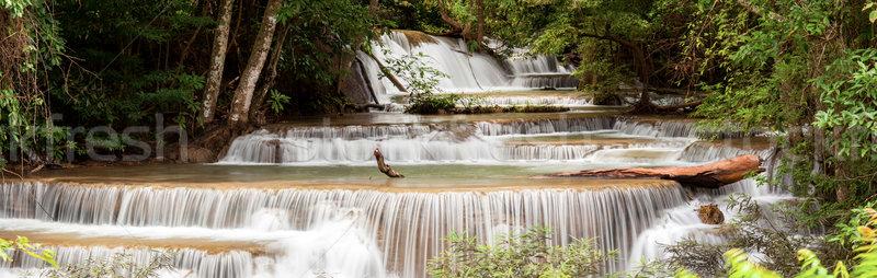 Panorama Tropial Waterfall Stock photo © vichie81
