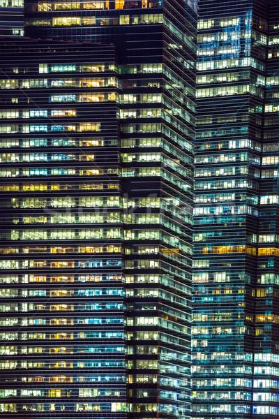Edificio de oficinas noche negocios oficina ciudad construcción Foto stock © vichie81