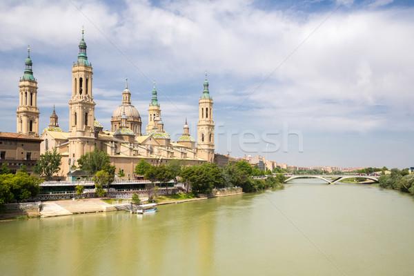 базилика собора Испания Lady реке Сток-фото © vichie81