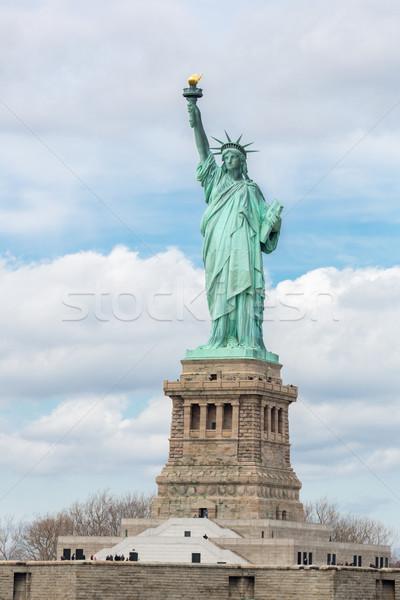 Szobor hörcsög New York USA zöld kék Stock fotó © vichie81