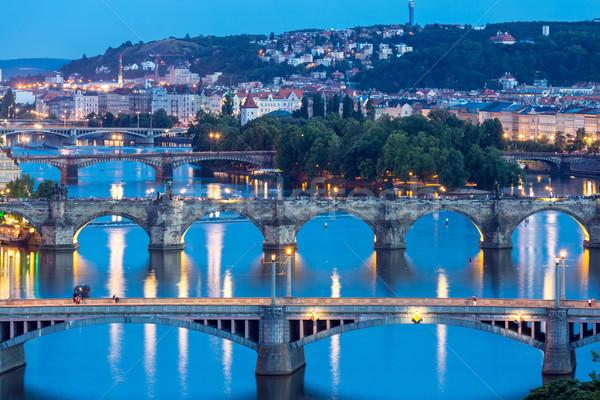 Prague at dusk Stock photo © vichie81