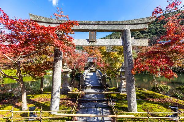 Temple kyoto automne Japon arbre jardin Photo stock © vichie81
