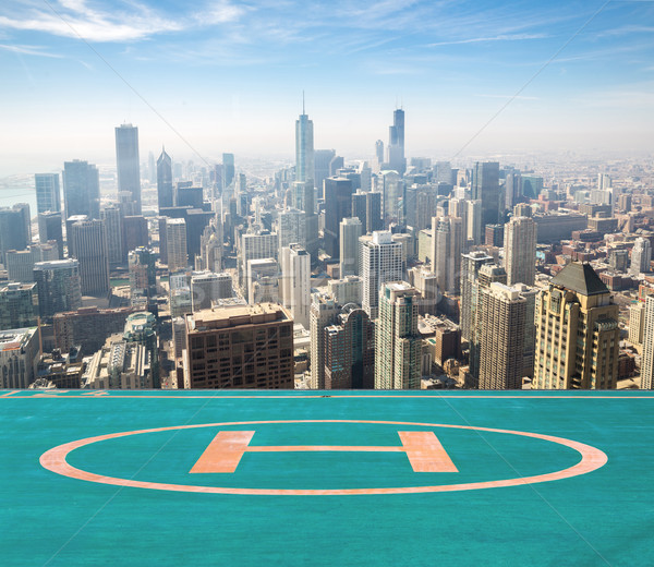 Chicago aerial Stock photo © vichie81