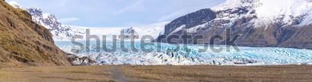 Gleccser park Izland panoráma természet tájkép Stock fotó © vichie81