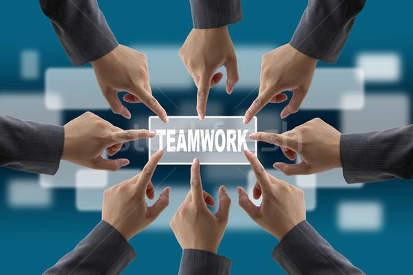 Diverso negocios trabajo en equipo equipo de negocios manos junto Foto stock © vichie81