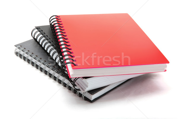 stack of ring binding book isolated on white Stock photo © vichie81