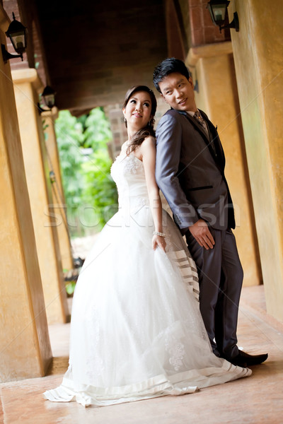 Felicidade casais romântico recém-casado italiano estilo Foto stock © vichie81