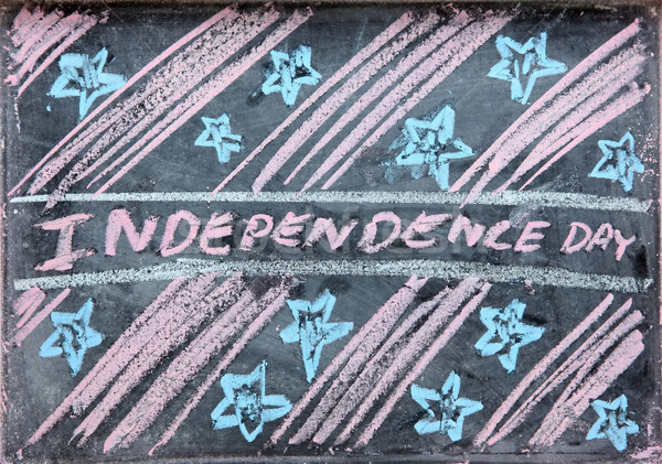 drawing of independence day Stock photo © vichie81