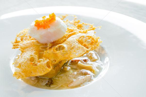 hokkaido scallop with crab sauce Stock photo © vichie81