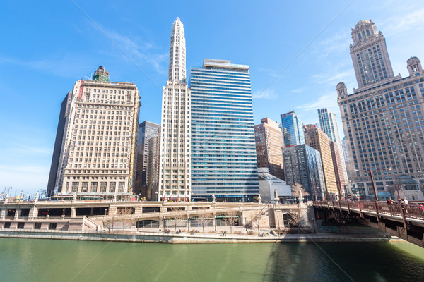Chicago downtown Stock photo © vichie81