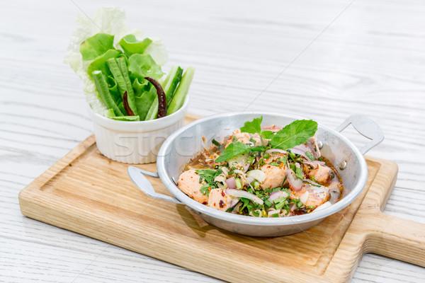 Spicy Salmon salad  Stock photo © vichie81
