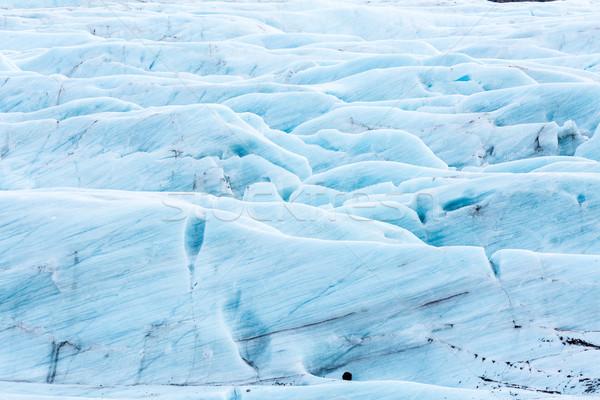 Gletsjer IJsland park ijs winter Blauw Stockfoto © vichie81