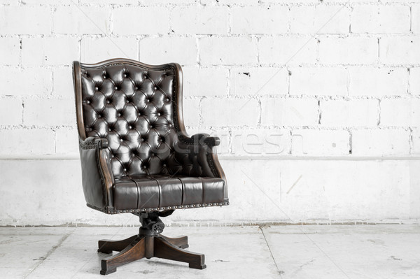 Stock photo: Black Chair in vintage room