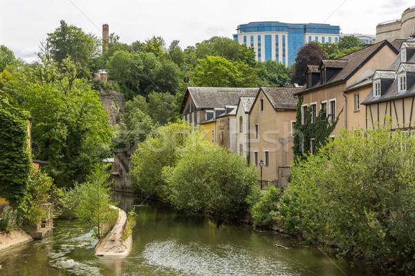 Luksemburg miasta centrum sceniczny widoku rzeki Zdjęcia stock © vichie81