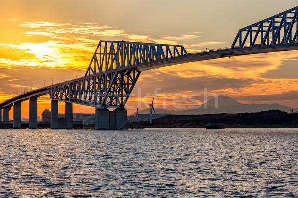 Tóquio portão ponte pôr do sol ponto de referência Japão Foto stock © vichie81