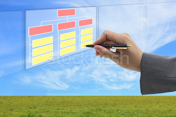 building organization and recruitment concept Stock photo © vichie81