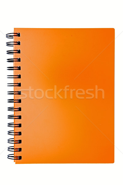 isolated blank orange ring binding book Stock photo © vichie81