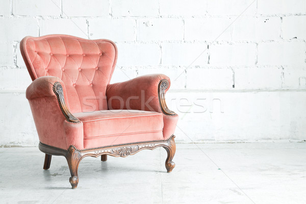 Stock photo: Pink classical Armchair