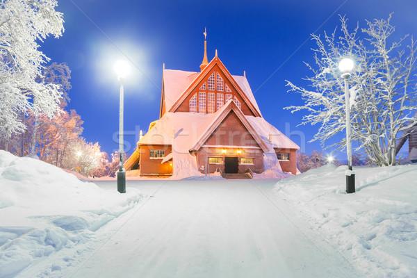 Iglesia Suecia catedral arquitectura de la iglesia anochecer crepúsculo Foto stock © vichie81