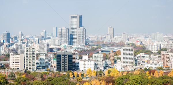 Panorama Osaka ufuk çizgisi Bina Japonya binalar Stok fotoğraf © vichie81