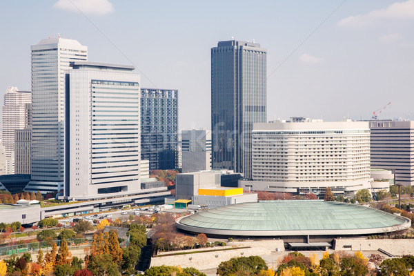 Osaka Cityscape ufuk çizgisi gökdelen Bina Japonya Stok fotoğraf © vichie81