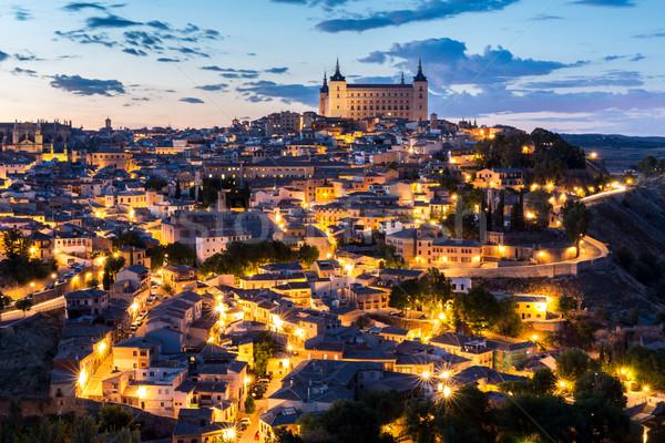 夕暮れ スペイン 景観 マドリード 家 壁 ストックフォト © vichie81