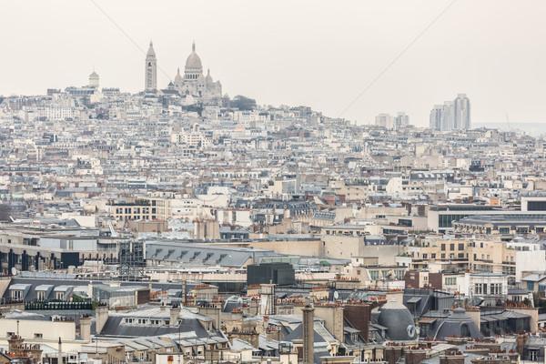 Paris katedral Cityscape montmartre şehir Stok fotoğraf © vichie81