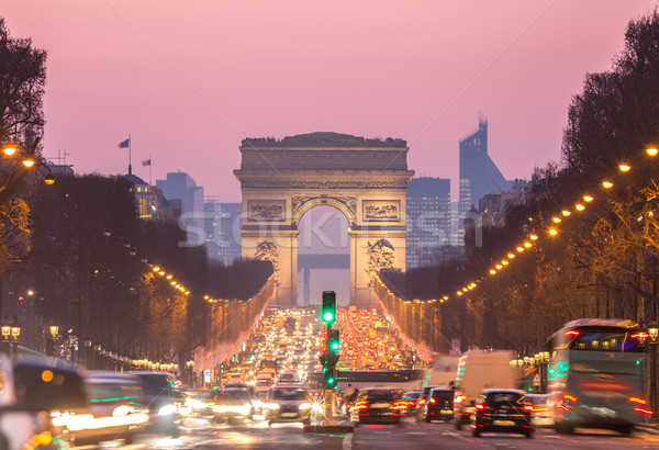 Arc of Triomphe Champs-Elysees Paris France Stock photo © vichie81