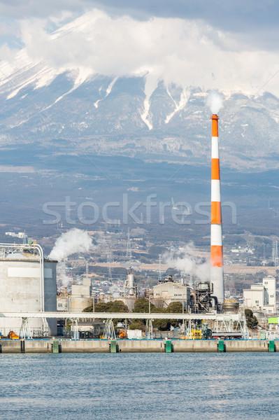 Foto stock: Montanha · fuji · fábrica · Japão · indústria · céu