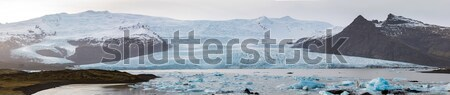 アイスランド パノラマ 氷河 自然 風景 背景 ストックフォト © vichie81