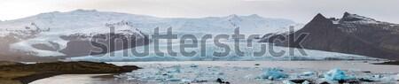 IJsland panorama gletsjer natuur landschap achtergrond Stockfoto © vichie81