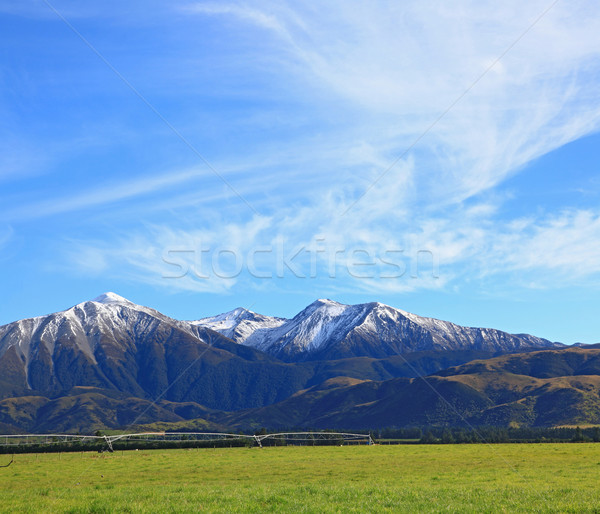 snow mountain of southern alpine alps in New Zealand with sunny  Stock photo © vichie81